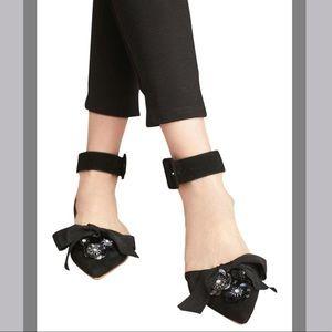 🆕NWT Bill Blass Sylvia Embellished D'orsay Flats
